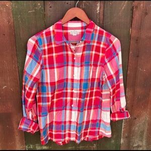 Madewell Broadway and Broome  Plaid button down